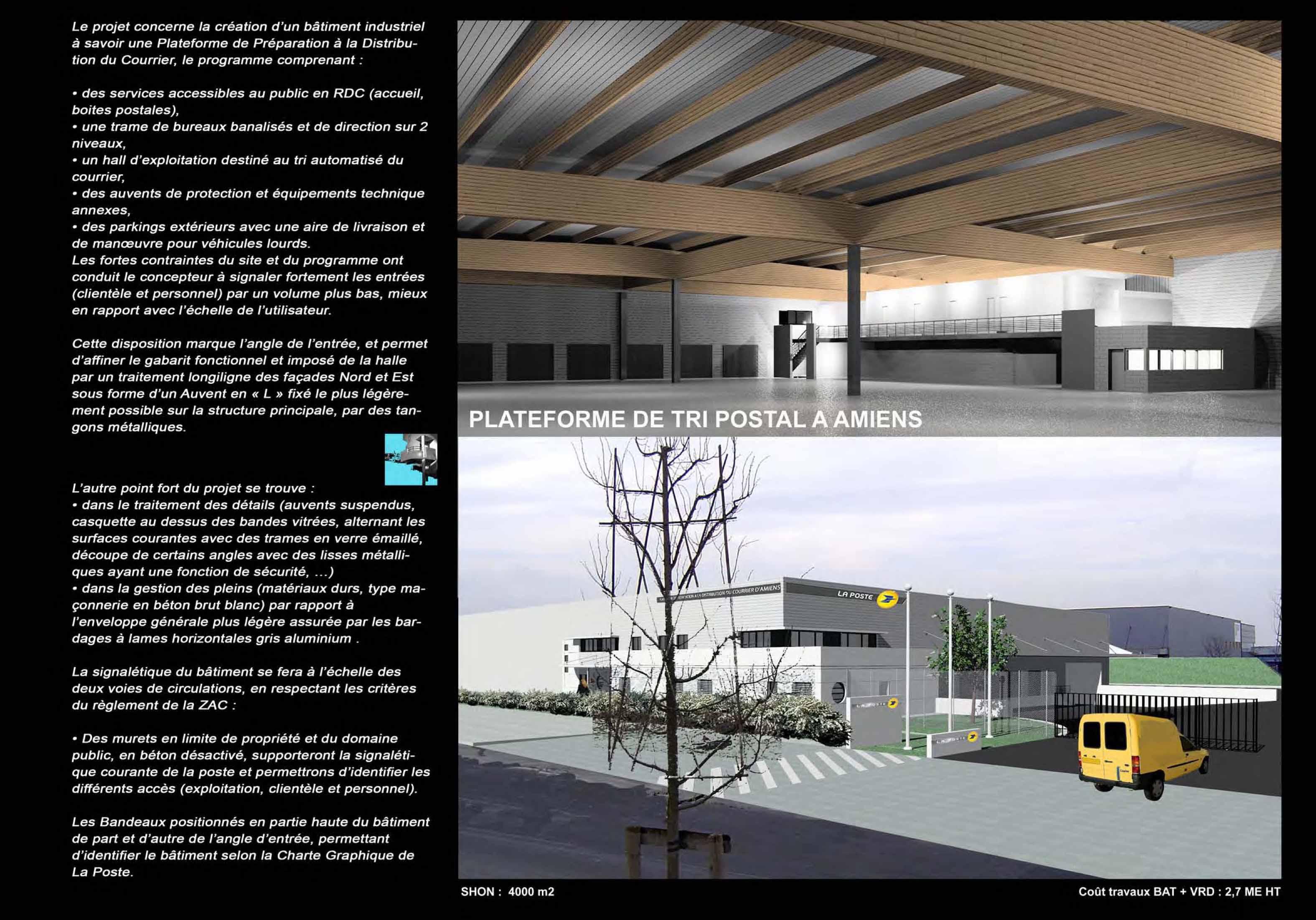 Gallery of le projet concerne la cration duun btiment for Cout batiment industriel m2